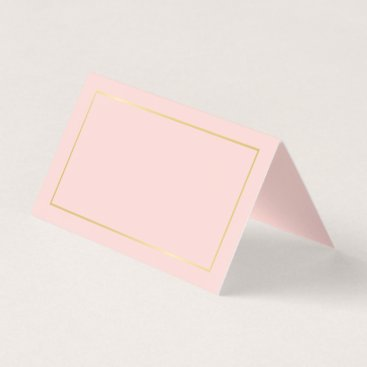 manadesignco Blank Blush Pink and Gold Wedding Place Card