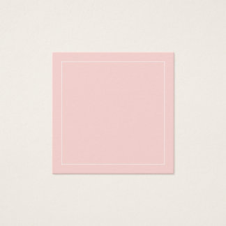 Blank Blush Pink with White Border Square Business Card
