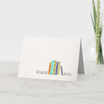 Blank Book Themed THANK YOU Card