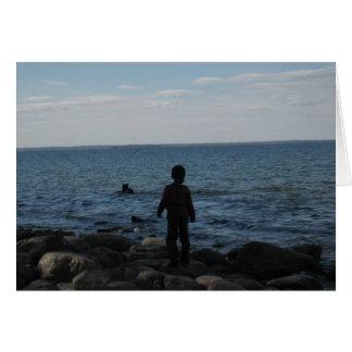 Blank_Boy by Lake Card