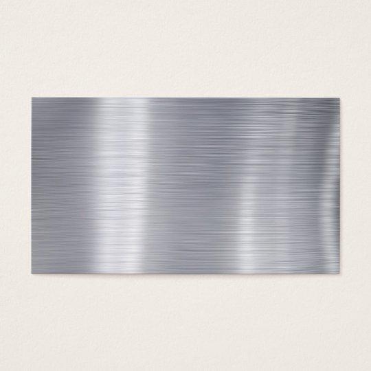 Blank Brushed Aluminum Faux Aluminum Business Card Zazzle Com