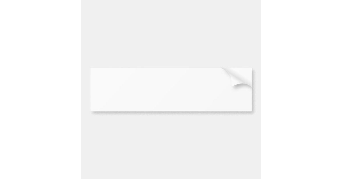 Blank bumper sticker template : Zazzle