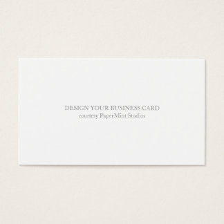 Blank Business Card | Business