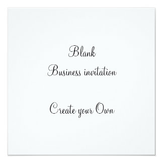 Blank Business Invitation