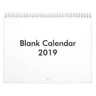 Blank Calendar 2019 Without Holidays