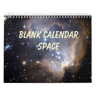 Blank Calendar - Space