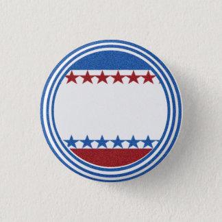 Blank Campaign Button Stars Stripes Glitter