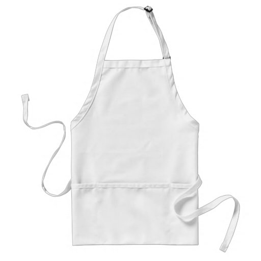 blank canvas adult apron