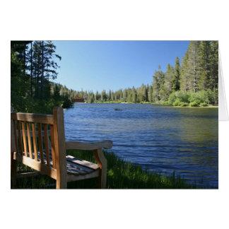 Blank Card, Bench on Mountain Lake Card