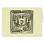 blank card crossing labyrinth brush square