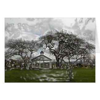 Blank Card: Gazebo in Wine Country card