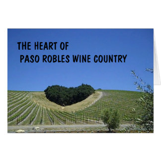 Blank Card: Heart of Paso Robles Wine Country Card