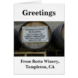 Blank Card: Historic Rotta Winery Card