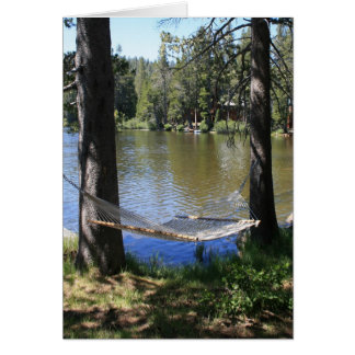 Blank Card, Lakeside Hammock Card