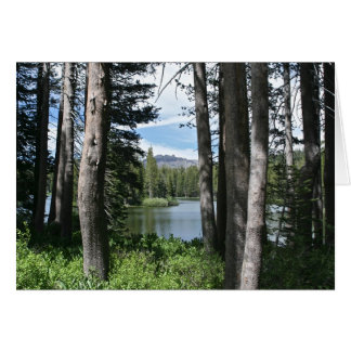 Blank Card, Mountain Lake, Forest Card