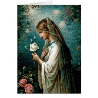 Blank Card: Mystical Rose Card
