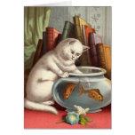 Blank card - Naughty Cat series - Fishing Cat