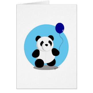 Blank Card - Panda Blue