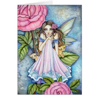 Blank Card  - * Rosy Dawn *