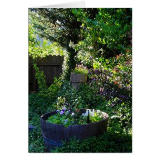Blank Card, Viola Garden Card