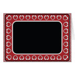 Blank Card with Red & Black Heart Background