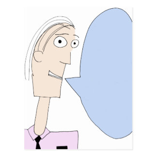 Blank Cartoon Dialog Bubble Postcard