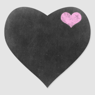 Blank Chalkboard - Customizable Product Packaging Heart Sticker