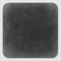 Blank Chalkboard - Customizable Product Packaging Square Sticker