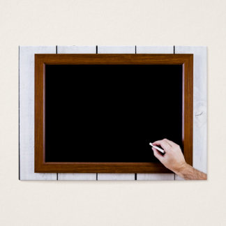 Blank chalkboard ready for your text business card