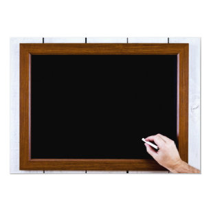 blank chalkboard ready for your text invitation
