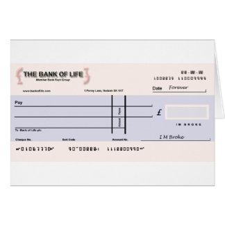 Blank Check Card