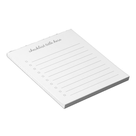 Check Boxes 40 Tear Away Pages Notepad