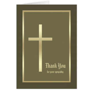 Blank Christian Sympathy Thank You Note Card