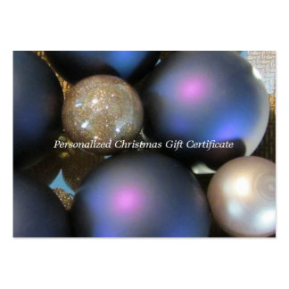 Blank Christmas Gift Certificate Business Card Templates