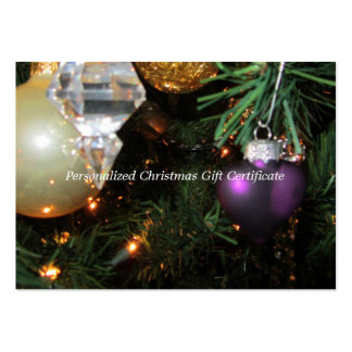 Blank Christmas Gift Certificate Business Card