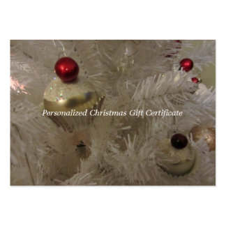Blank Christmas Tree Gift Certificate Business Card Templates