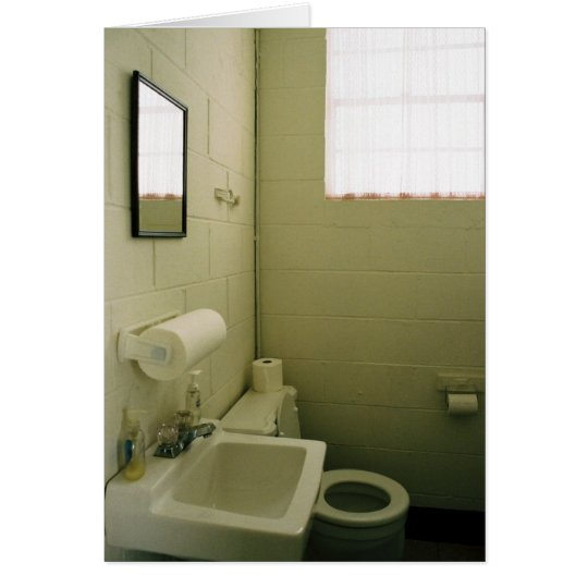 Blank Church Water Closet Notecard