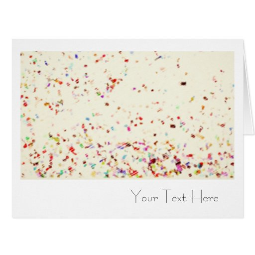 Blank Confetti All Occasion Greeting Card (XL)