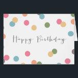 "Blank Confetti Dot Birthday Card<br><div class=""desc"">.</div>"