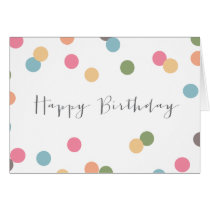 Blank Confetti Dot Birthday Card