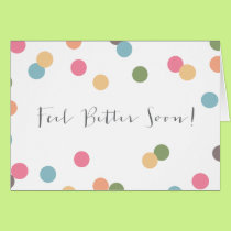 Blank Confetti Dot Get Well Soon Card