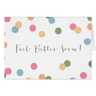 Blank Confetti Dot Get Well Soon Card