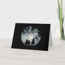 Blank Cowboy and Moon Note Cards