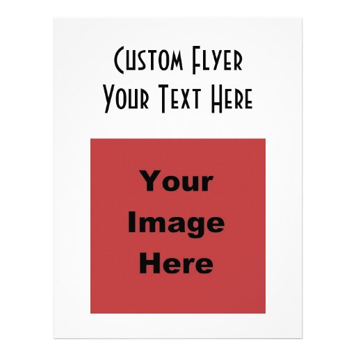 Blank Create Your Own Gift Personalized Flyer Zazzle