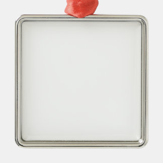 """Blank """"Create your Own"""" Square Metal Christmas Ornament"""