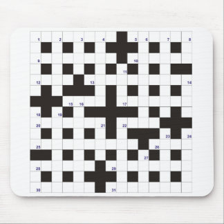 Blank Crossword Mousepad