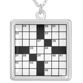 Blank Crossword Puzzle necklace