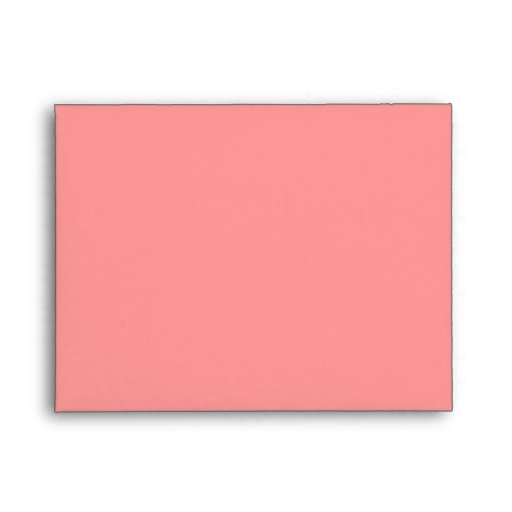 blank custom a2 salmon pink note card envelopes