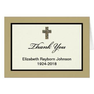 Blank Custom Sympathy Thank You Card