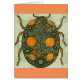 Blank Customizable Scarab Beetle Insect Art Card